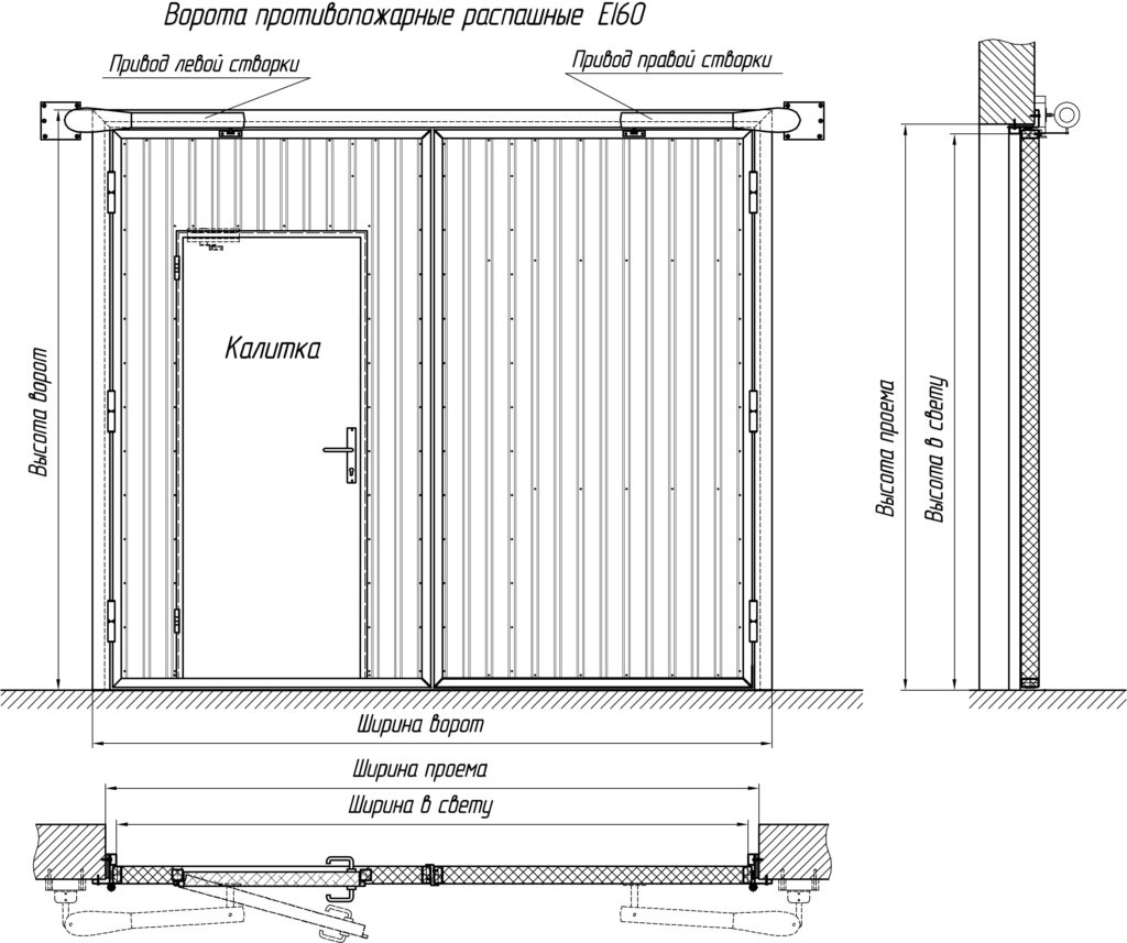 Максимальная ширина ворот распашных метал ворота из профиля